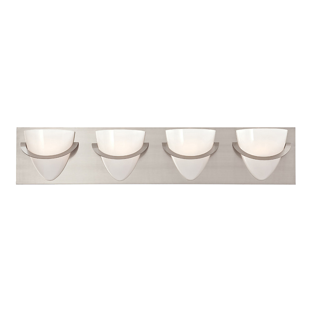 Forma Collection 4 Light Satin Nickel Bath Bar