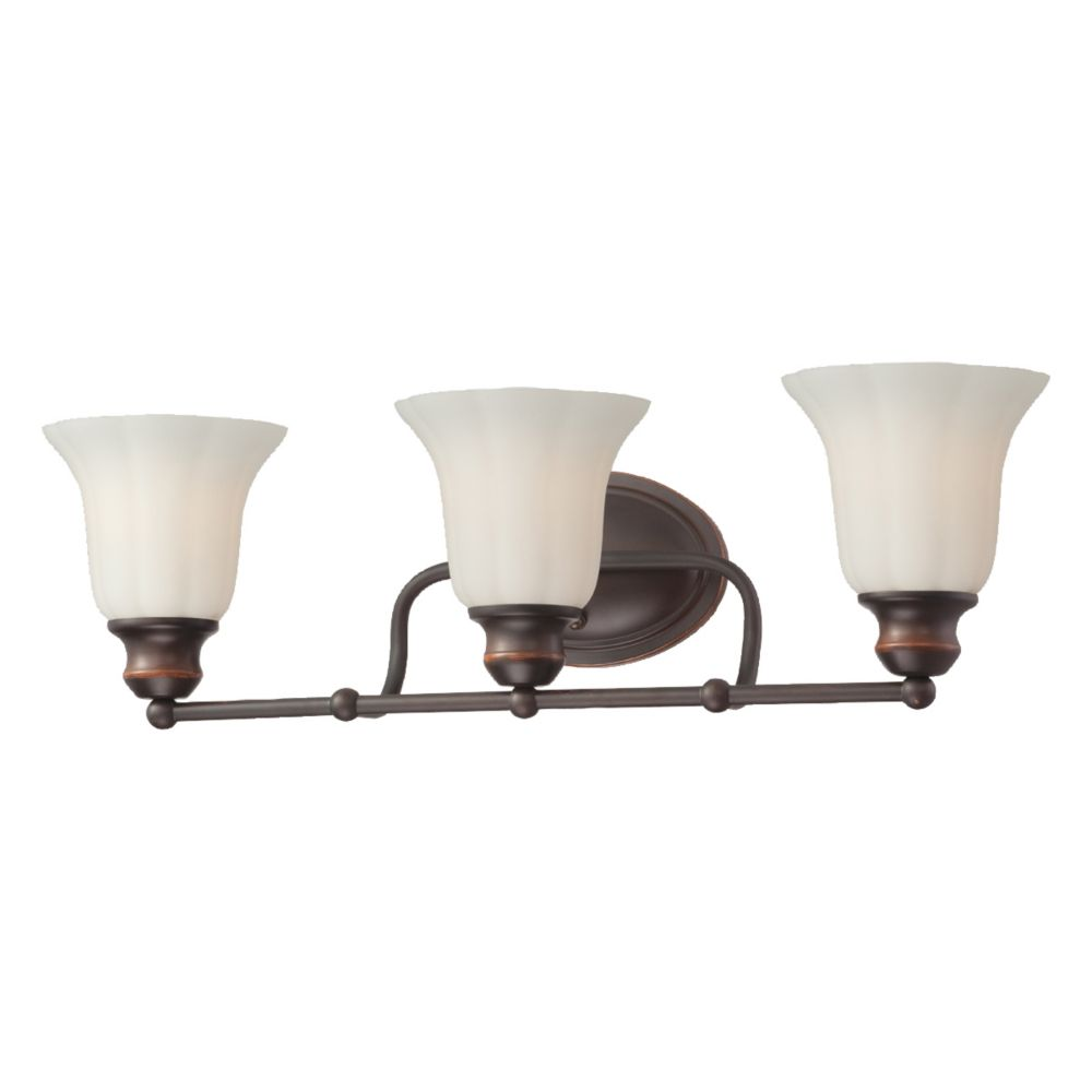Fountaine Collection 3 Light Oil Rubbed Bronze Bathbar