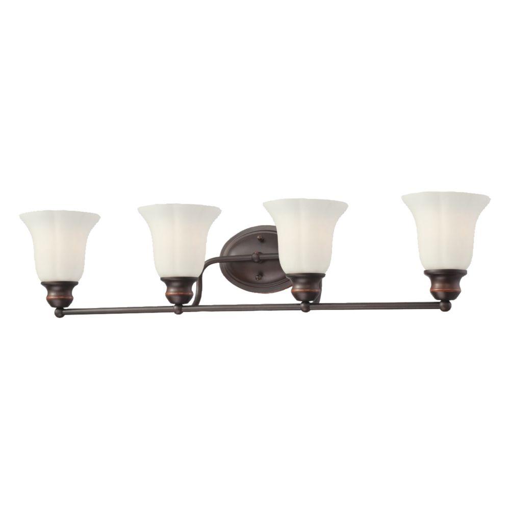 Eurofase Fountaine Collection 4-Light Oil Rubbed Bronze Bath Bar Light