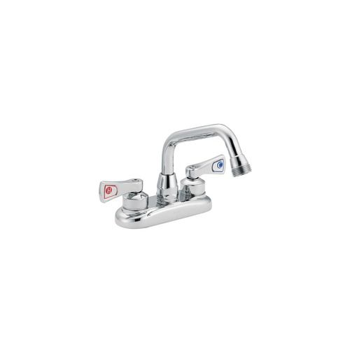 Commercial Two Handle Utility Faucet in Chrome