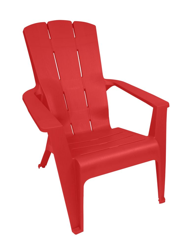 Gracious living contour adirondack chair red the home for Adirondack chaise