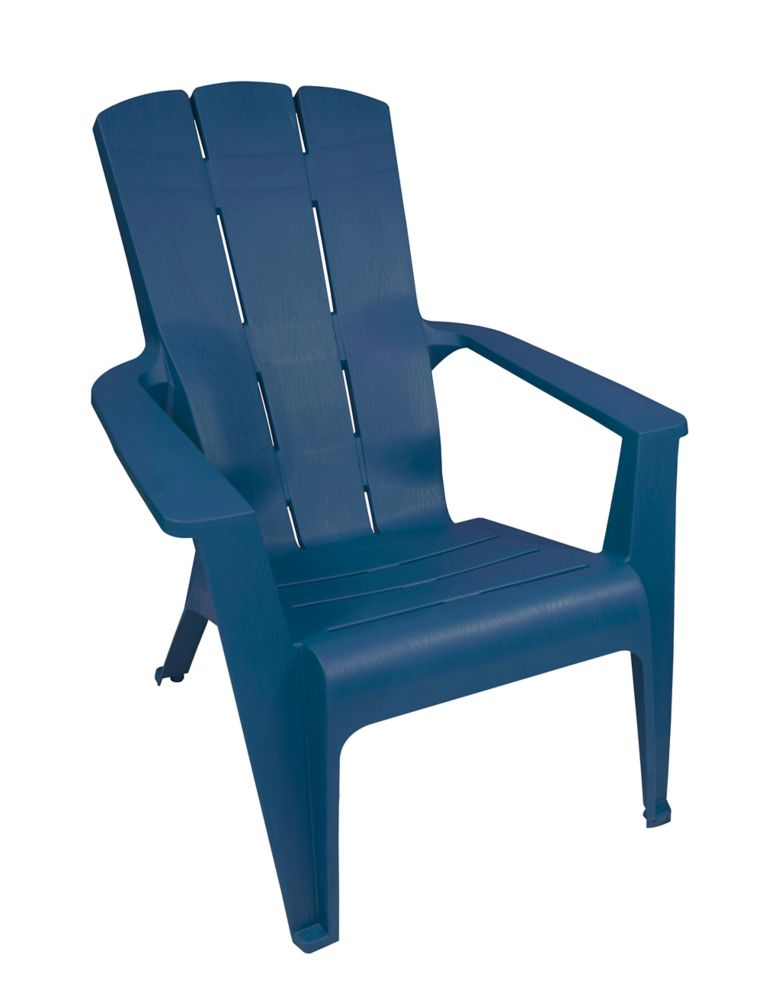 gracious living adirondack contour chair blue the home depot canada. Black Bedroom Furniture Sets. Home Design Ideas