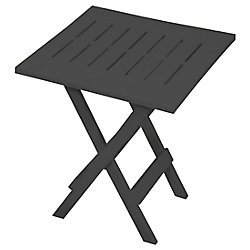 Gracious Living Folding Patio Side Table in Grey