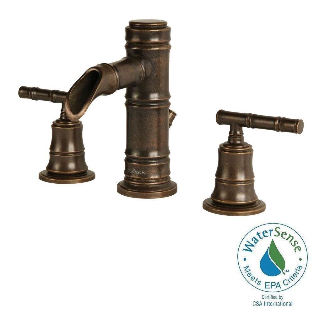 Kingsley 1 Handle Bathroom Faucet Antique Bronze Finish 6102AZ Canada Disco