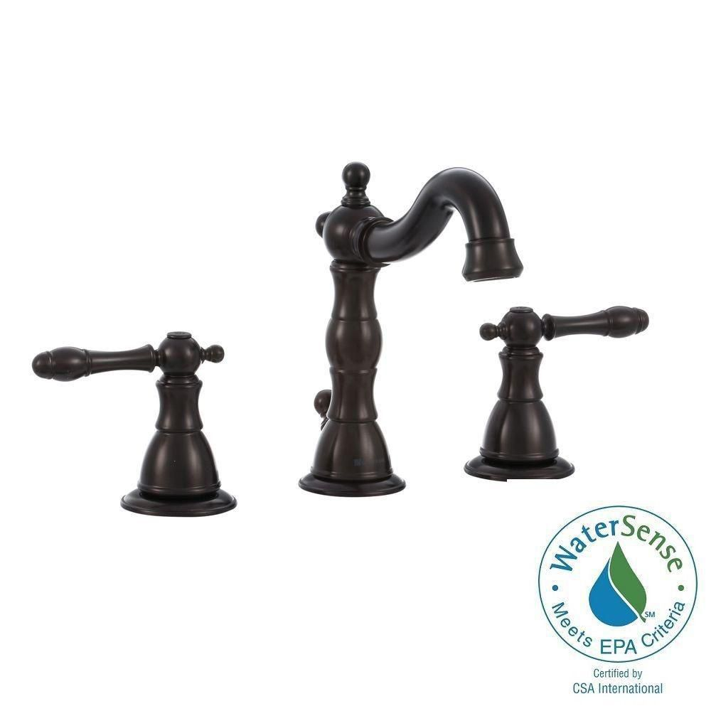 Lyndhurst 8 Inch Widespread in Oil Rubbed Bronze