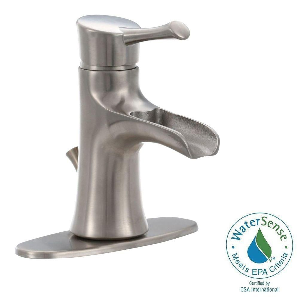 Gatsby I 4 Inch Single-Handle Bathroom Faucet in Brushed Nickel