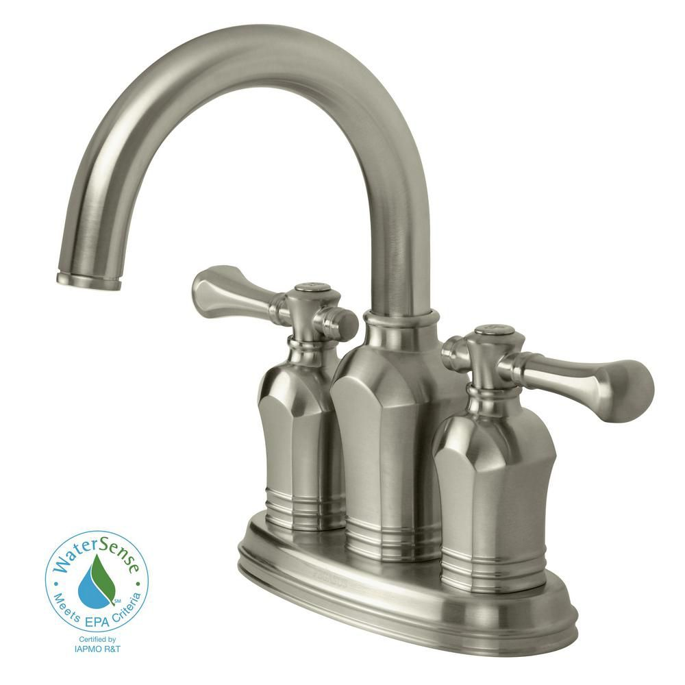 Pegasus Verdanza 4 Inch Bathroom Faucet In Brushed Nickel Finish The Home Depot Canada