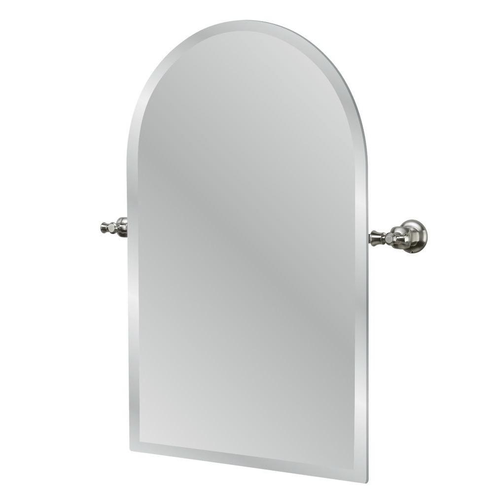 Miroir Verdanza en nickel brossé