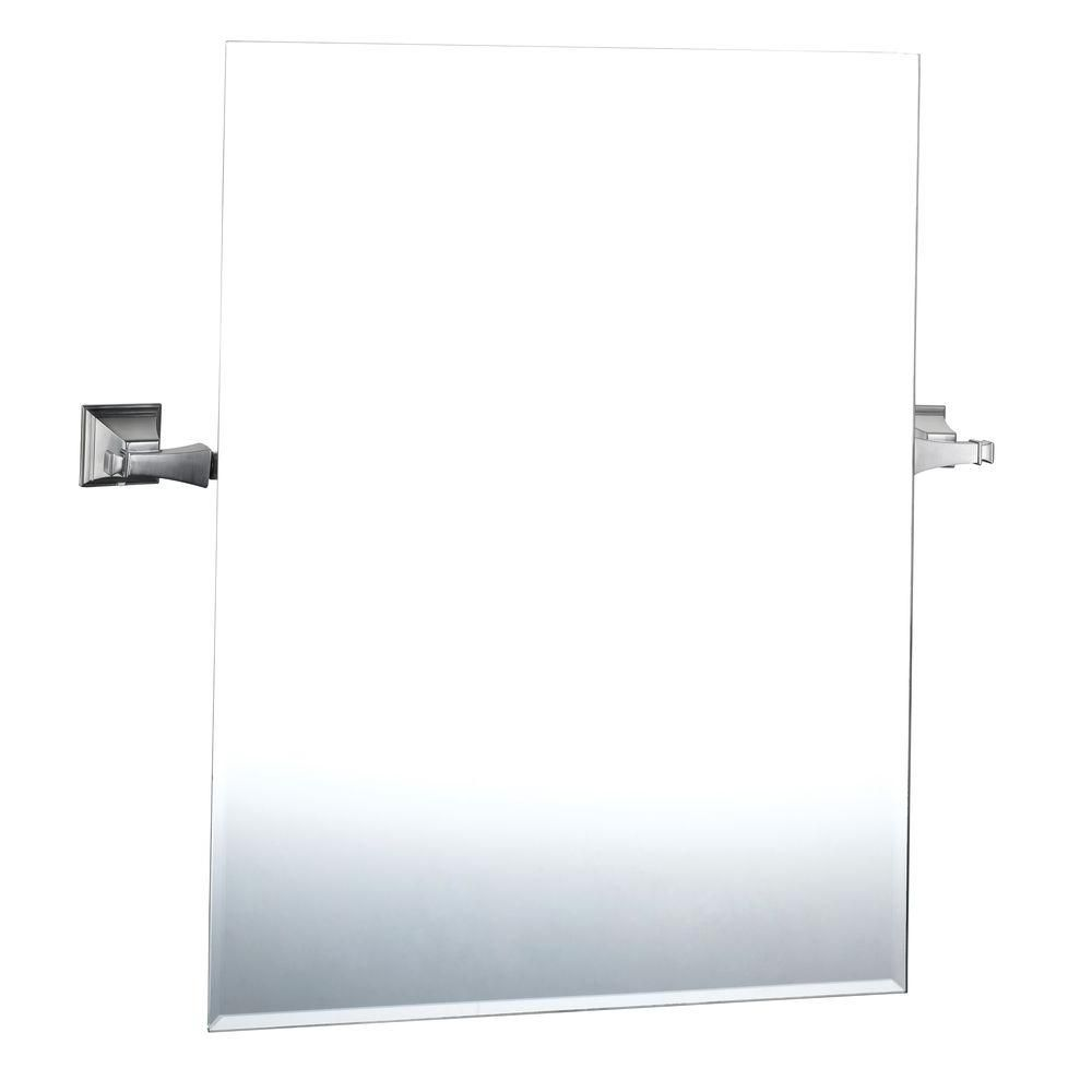 Exhibit Mirror in Brushed Nickel