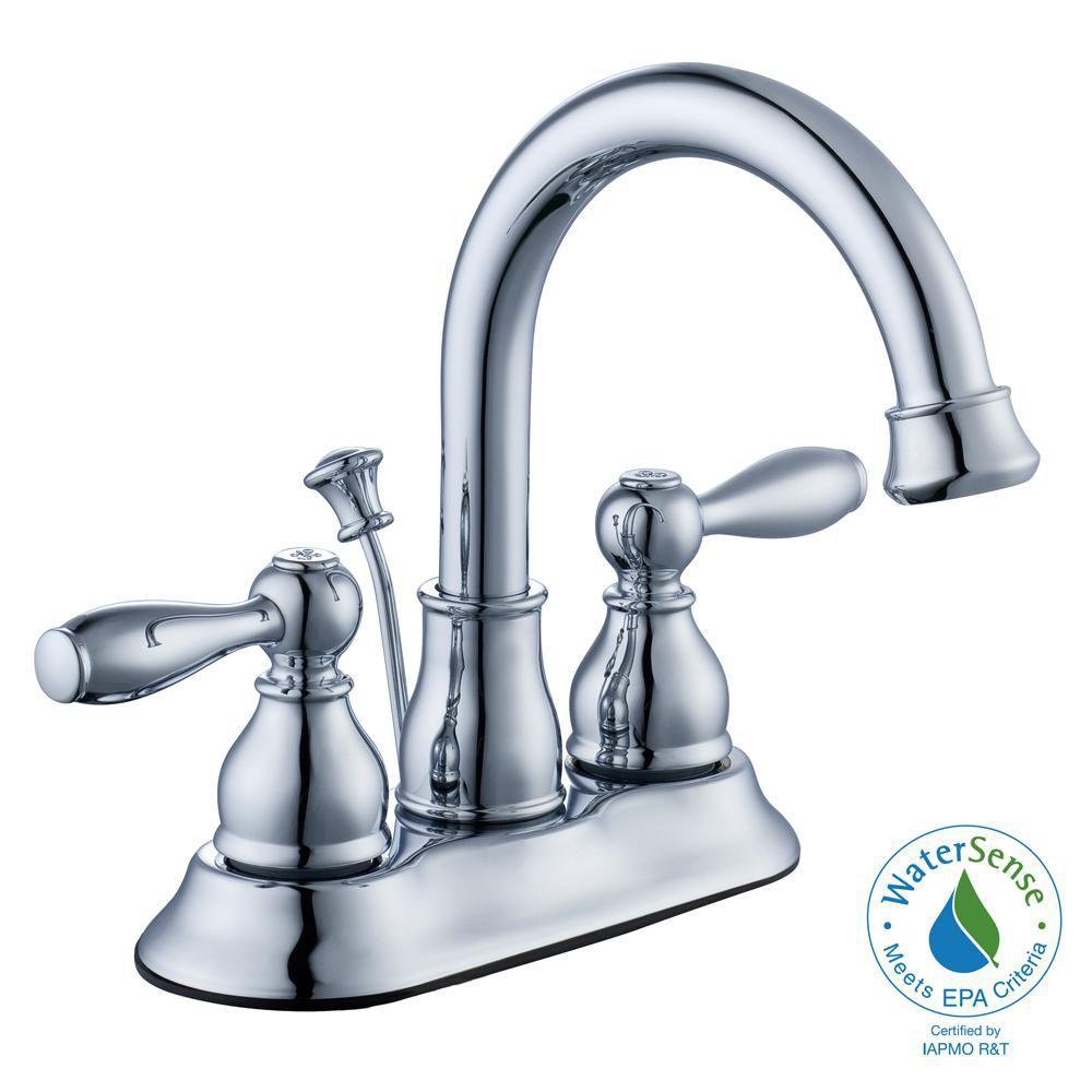 Glacier bay robinet de bain mandouri de 10 16 cm 4 po en for Robinet salle de bain home depot