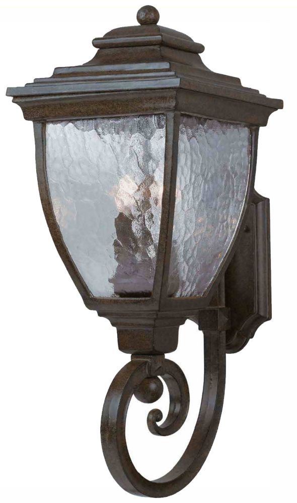 9-1/4 Inch Outdoor Wall Lantern, Copper Patina Finish
