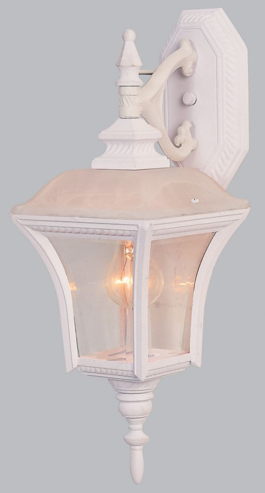 7 Inch Outdoor Wall Lantern, Matte White Finish OW2032MW Canada Discount