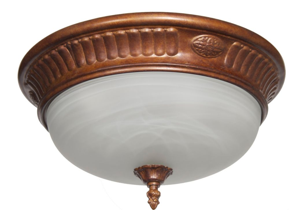 36,83cm plafonnier, fini bronze péruvien
