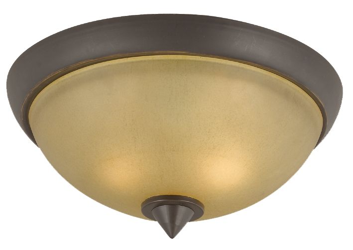 36,83cm plafonnier, fini bronze oxydé