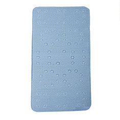 17  Inch  W X 36  Inch  L Foam Bath Mat in Blue
