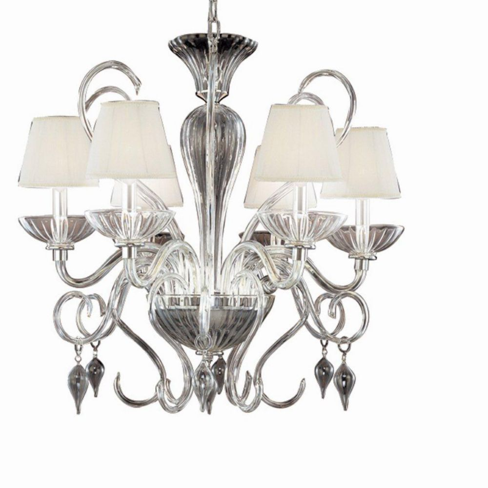 Celesto Collection 6 Light Chrome & Clear Chandelier