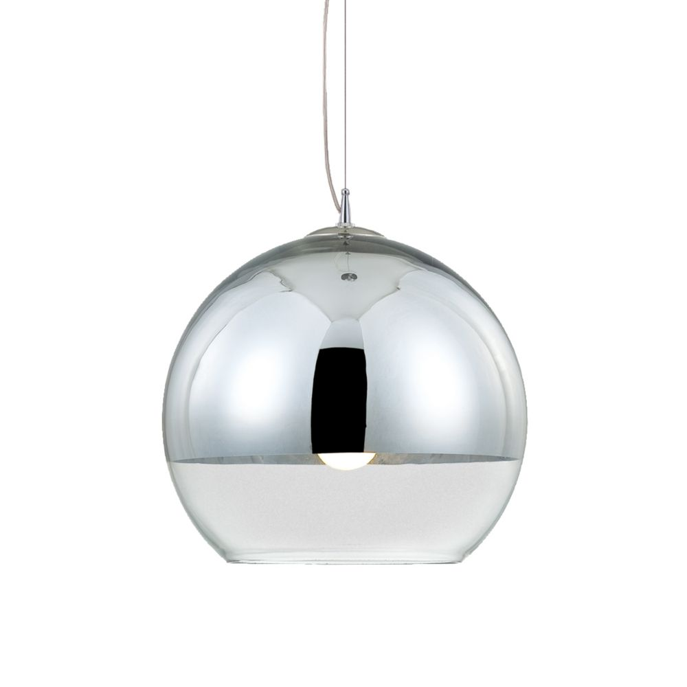 Eurofase Chromos Collection 1 Light Chrome Pendant