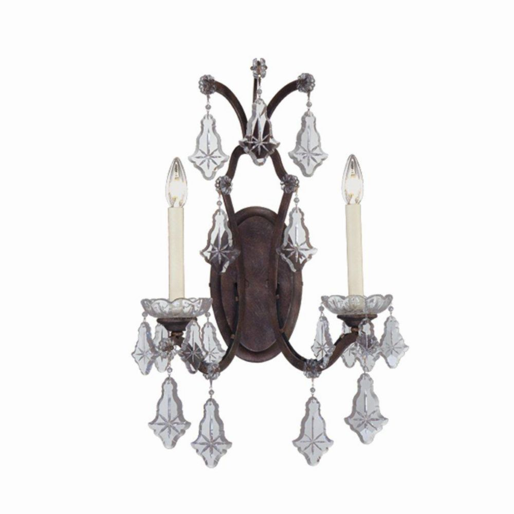 Colette Collection 2 Light Bronze Wall Sconce