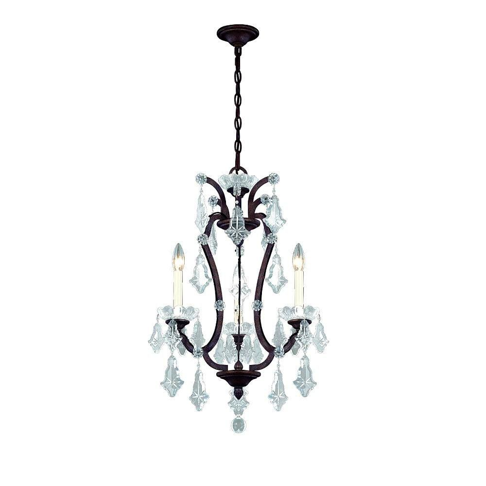 Colette Collection 3 Light Bronze Chandelier