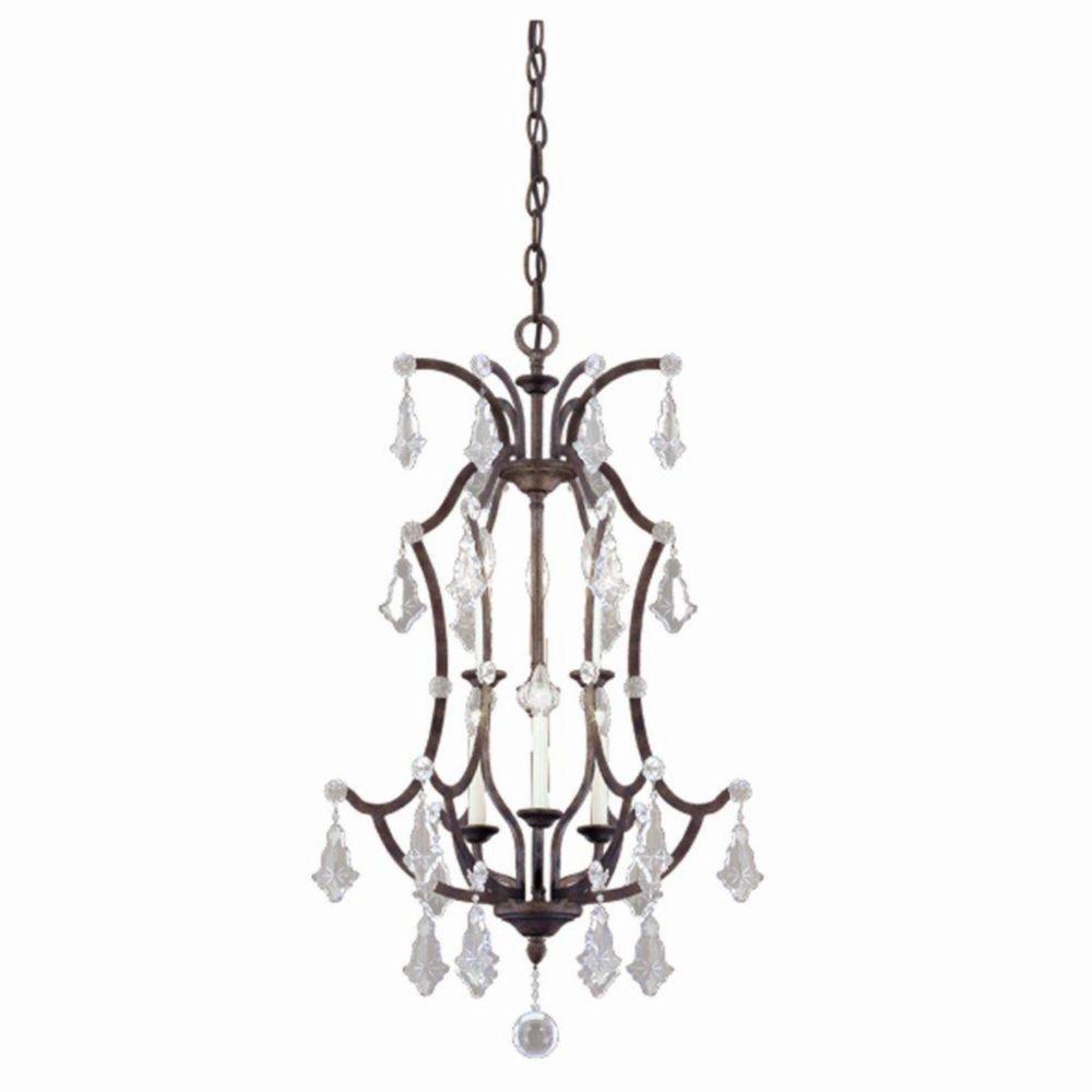 Colette Collection 6 Light Bronze Lantern Pendant