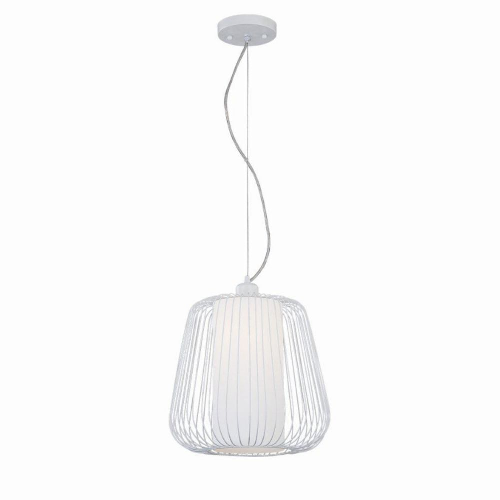 Corral Collection 1 Light Large White Pendant