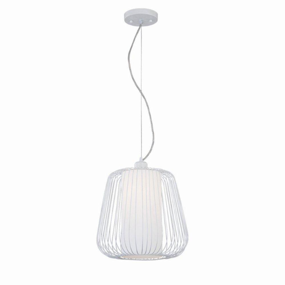 Corral Collection 1 Light White Pendant