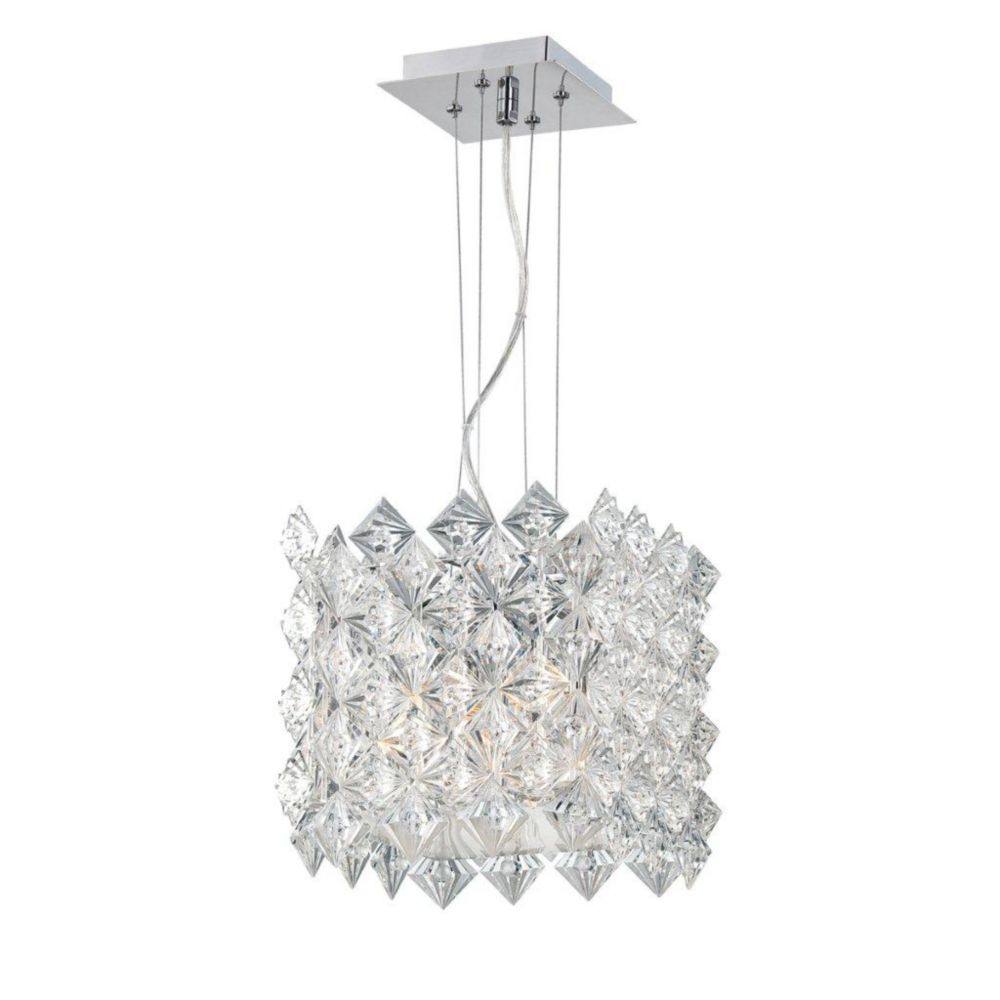 Cristallo Collection 4 Light Chrome Square Pendant