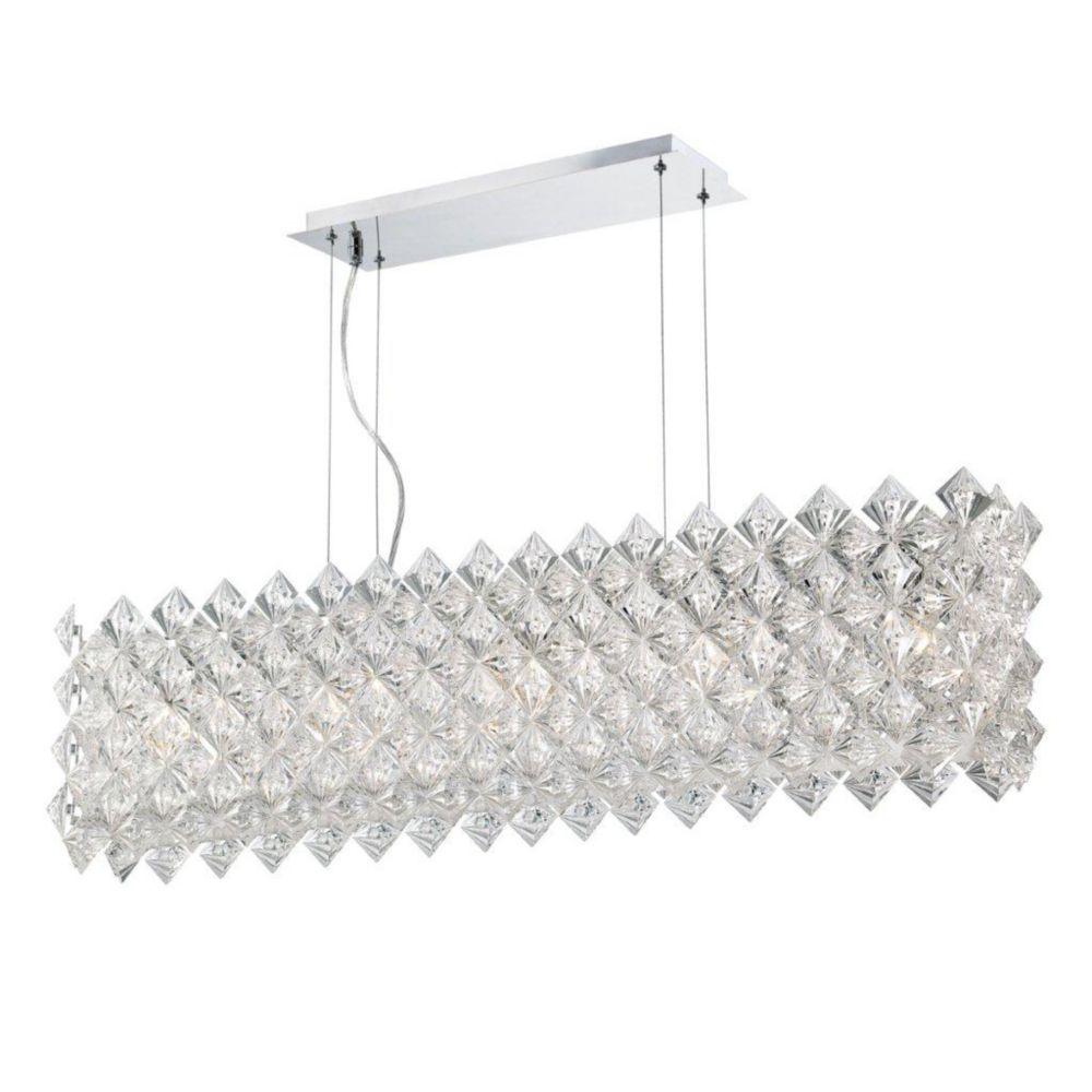 Cristallo Collection 5 Light Chrome Rectangle Pendant