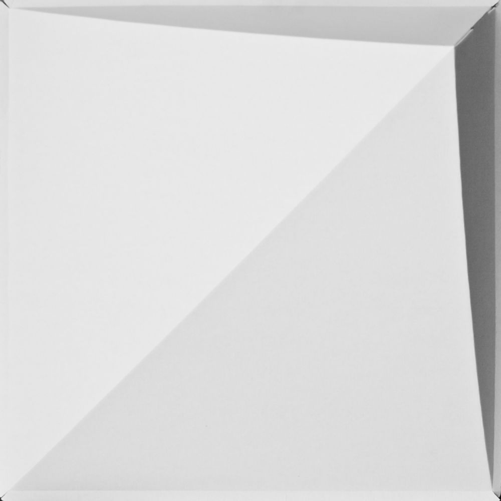 FoldsCapes Peak Drop Ceiling Tile White 24 Tile Pack (2 x 2 feet lay in tile 7 inches deep)