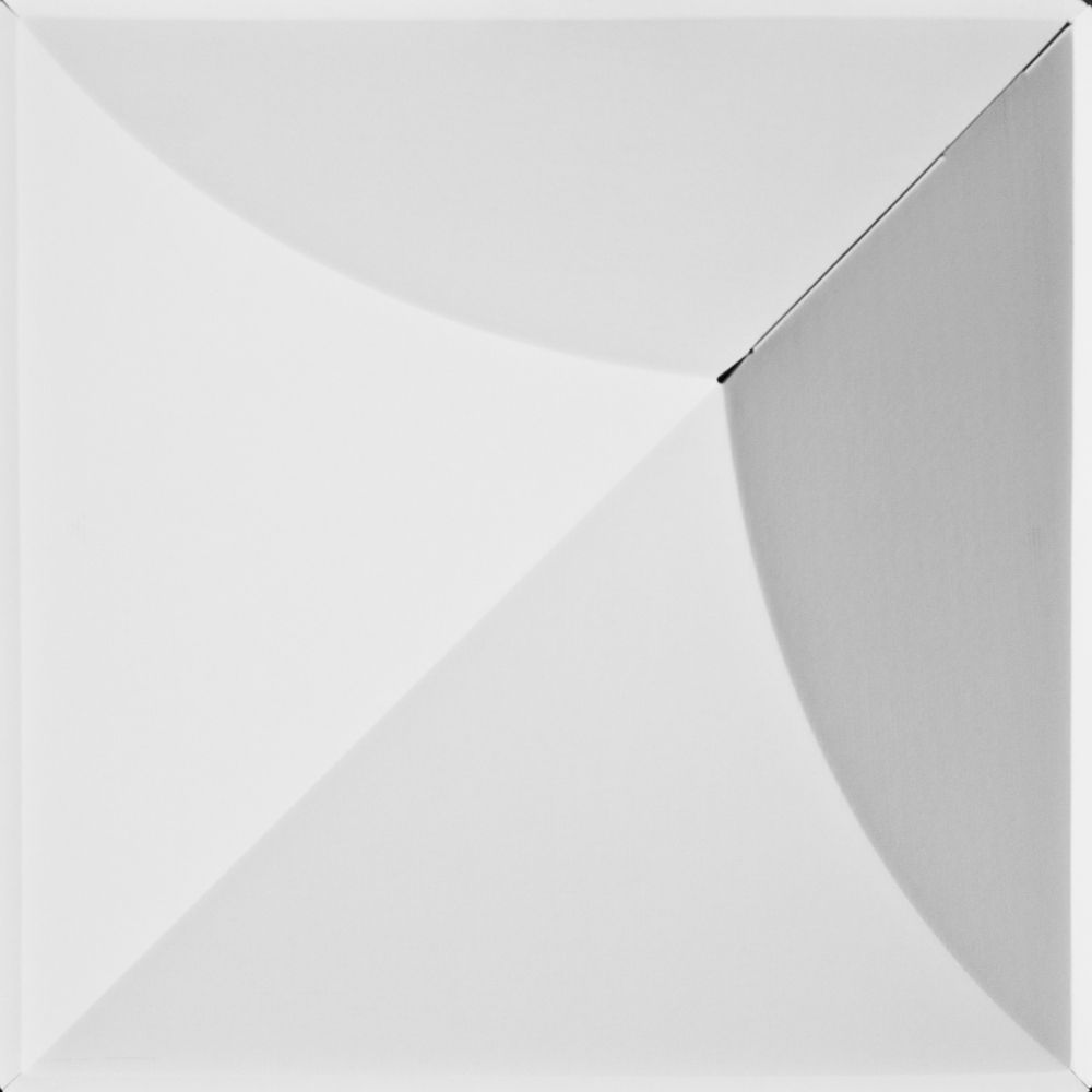 FoldsCapes Bloom Drop Ceiling Tile White 24 Tile Pack ((2 x 2 feet lay in tile 5 inches deep)