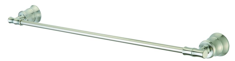 Bamboo 24 Inch Towel Bar in Brushed Nickel