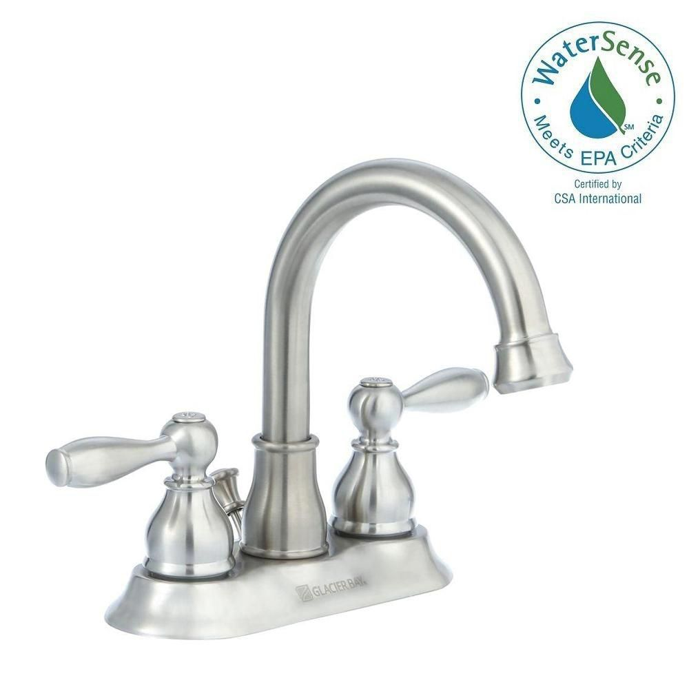 Mandouri 4 Inch Bath Faucet in Brushed Nickel