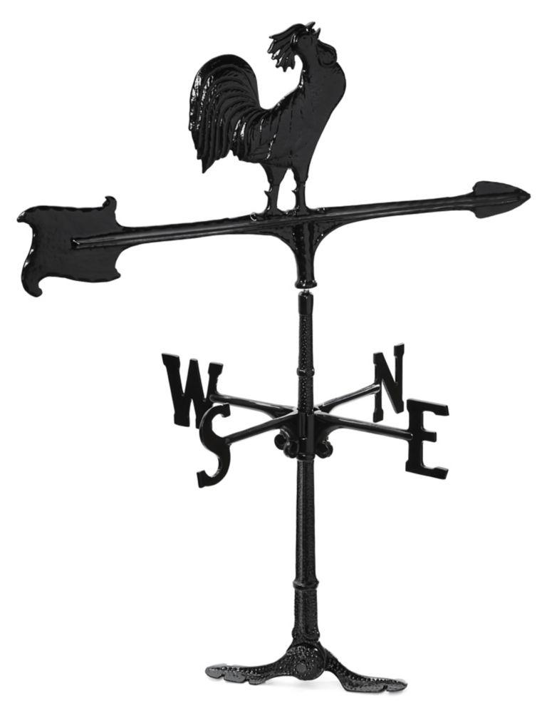"La girouette de coq - noir - 30"""