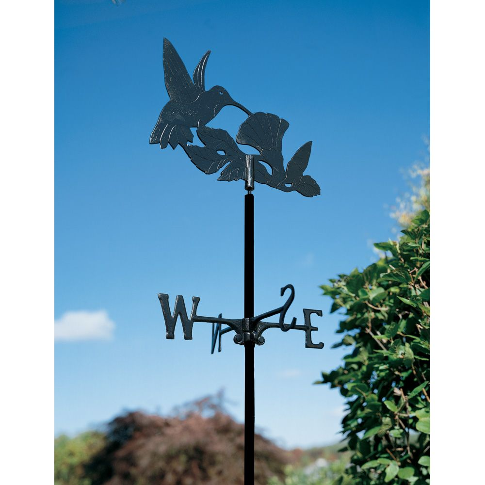 Hummingbird - Garden Weathervane - Black