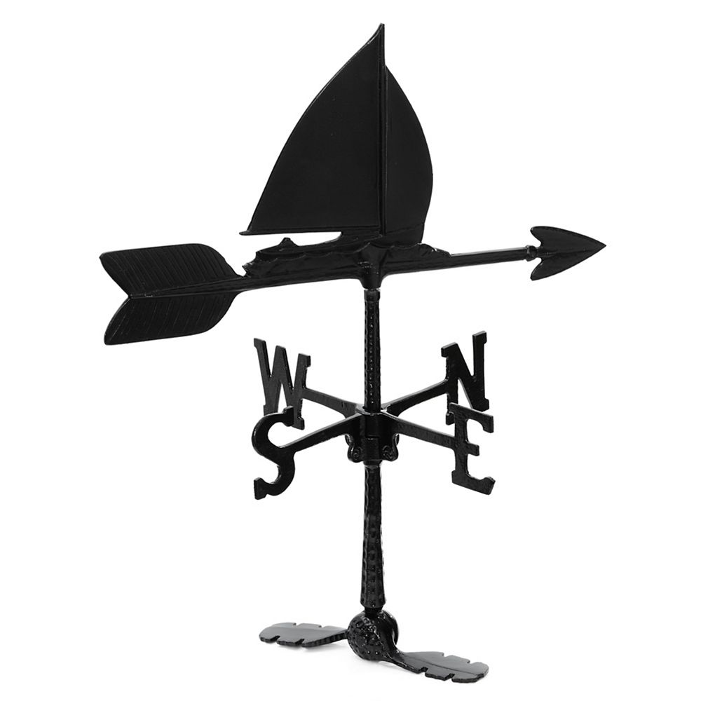 Klassen Sailboat Weathervane - Black 24 Inch