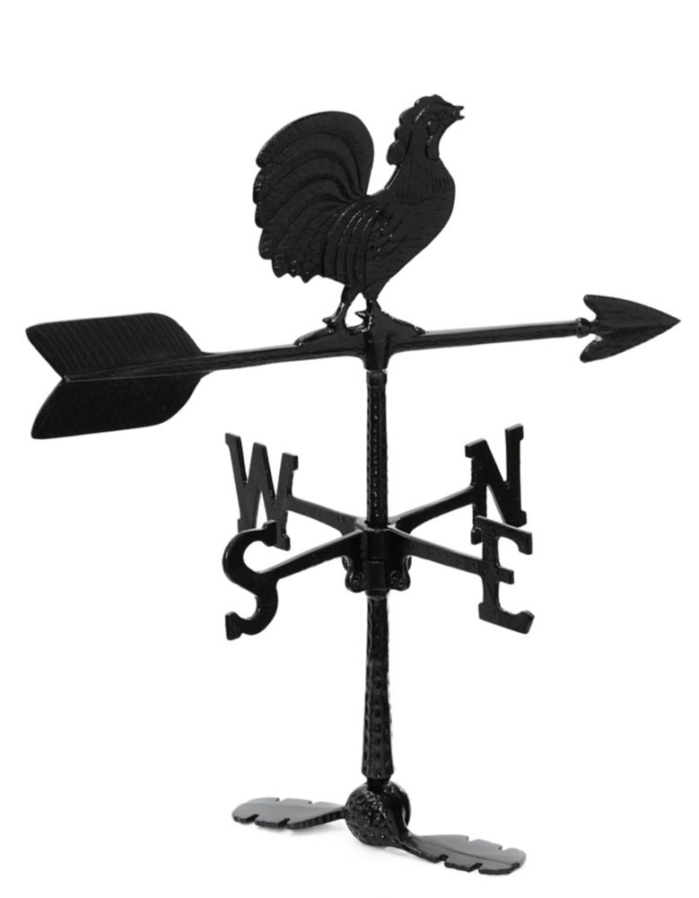 Rooster Weathervane - Black 24 Inch