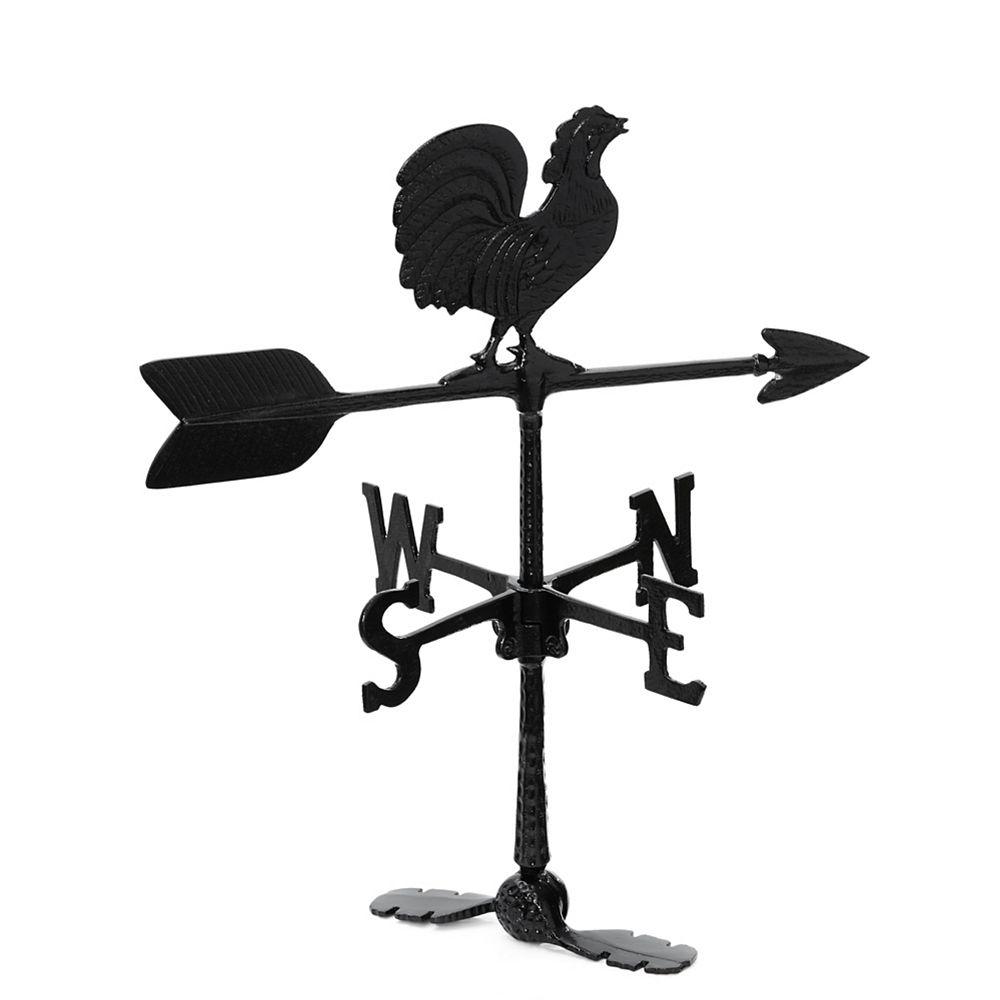 Klassen Rooster Weathervane - Black 24 Inch
