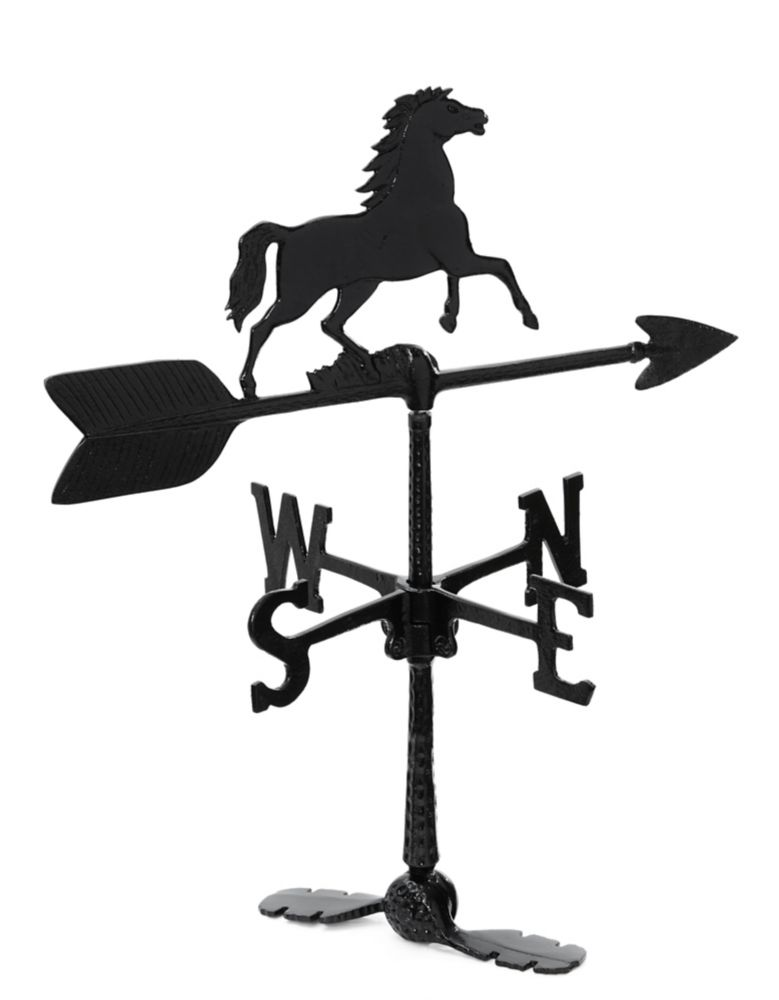 Horse Weathervane - Black 24 Inch