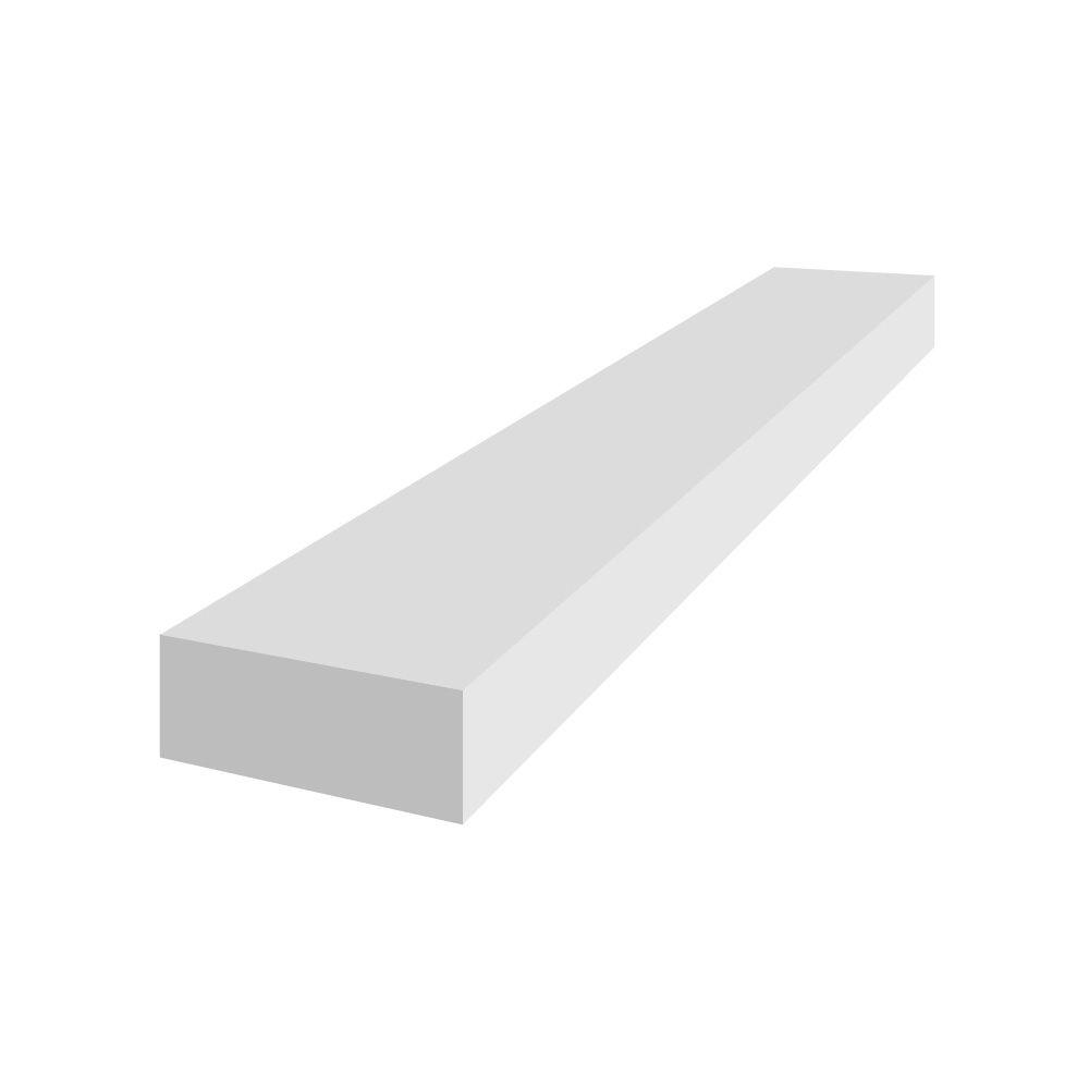 1 po. x 2 po. x 8 pi. Veranda PVC Trim Board Blanc