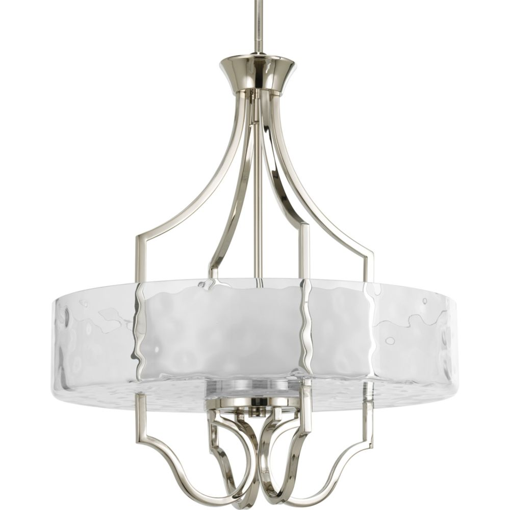 Caress Collection Polished Nickel 3-light Foyer Pendant