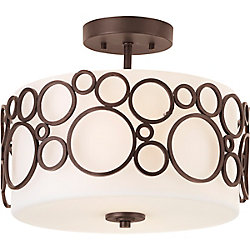 Progress Lighting Bingo Collection 2-light Semi-flushmount Fixture in Venetian Bronze