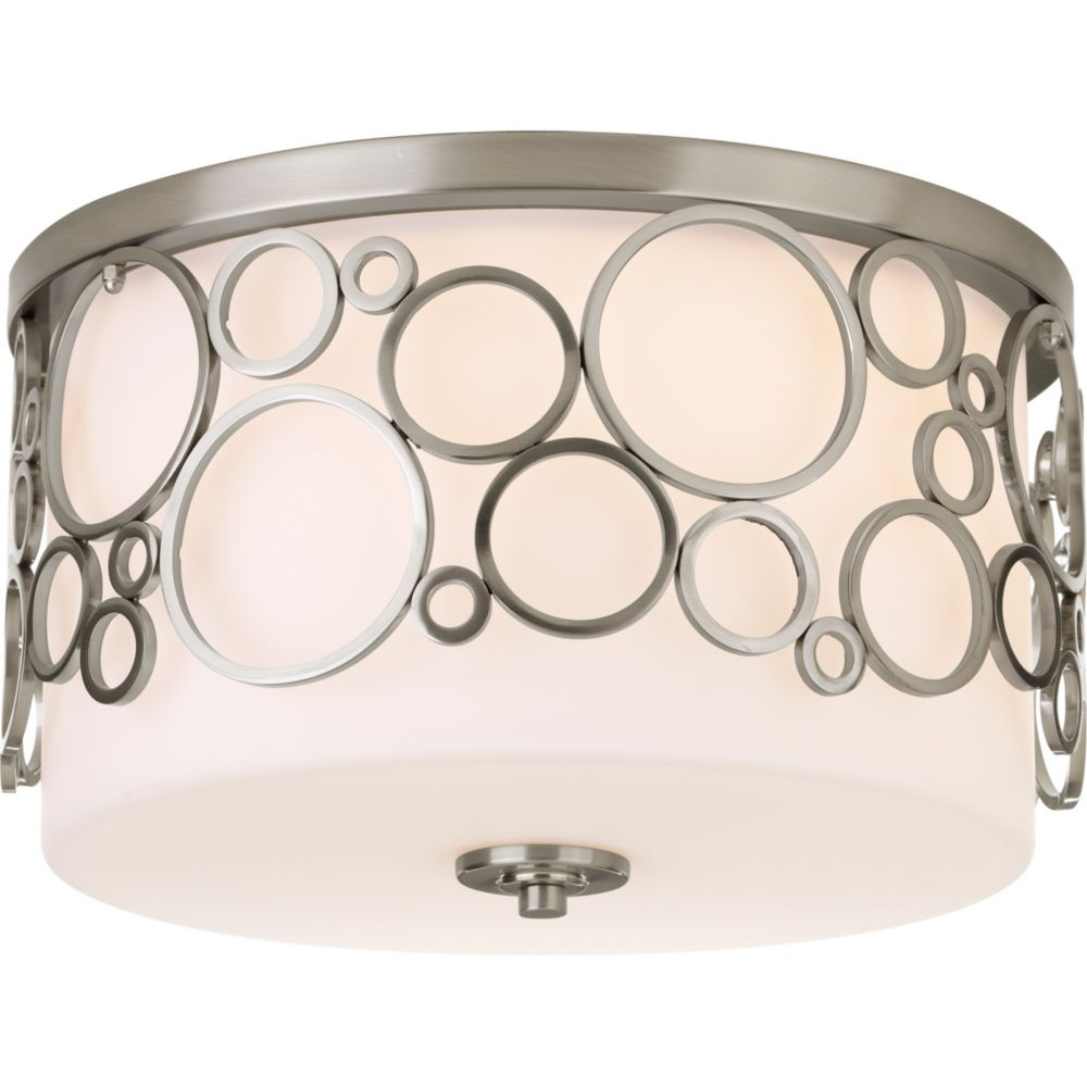 Bingo Collection 3-light Brushed Nickel Flushmount