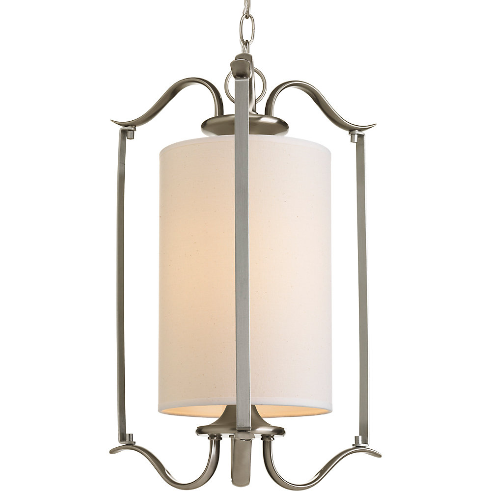 Inspire Collection 1-light Brushed Nickel Foyer Pendant