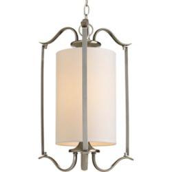 Progress Lighting Lustre de vestibule à 1 Lumière, Collection Inspire - fini Nickel Brossé