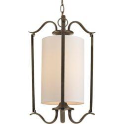Progress Lighting Lustre de vestibule à 1 Lumière, Collection Inspire - fini Bronze à l'Ancienne