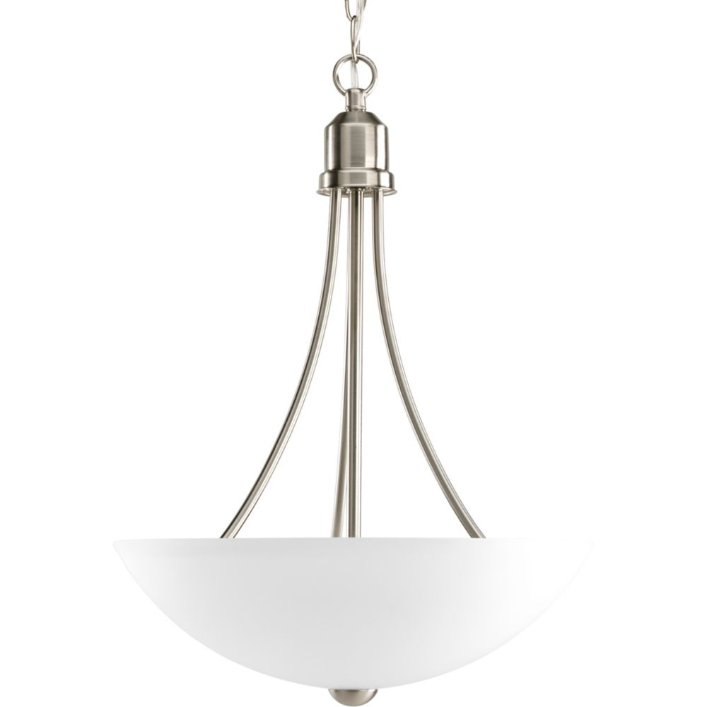 Gather Collection Brushed Nickel 2-light Foyer Pendant