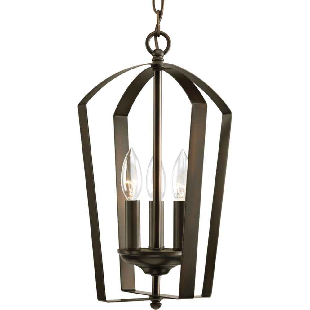 Gather Collection Antique Bronze 3-light Foyer Pendant