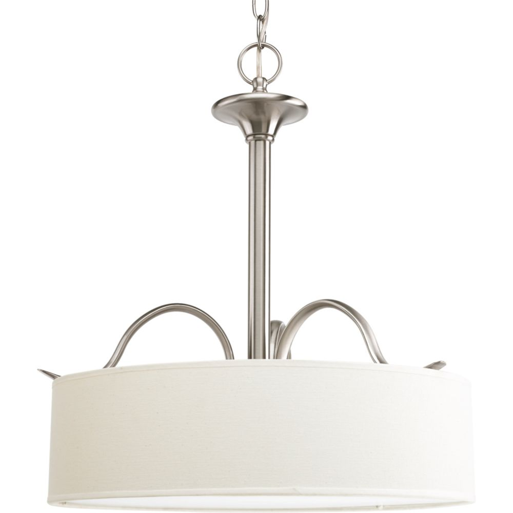 Inspire Collection Brushed Nickel 3-light Pendant