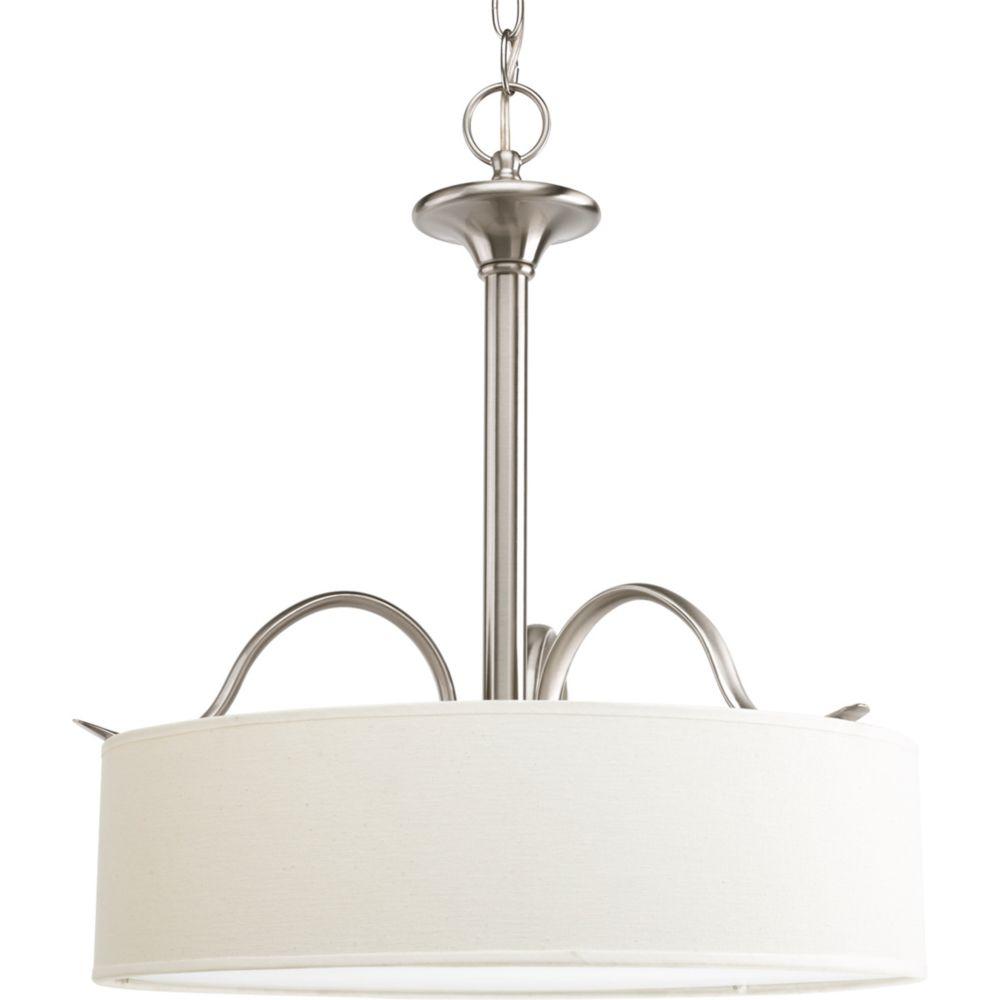 Progress Lighting Inspire Collection Brushed Nickel 3-light Pendant