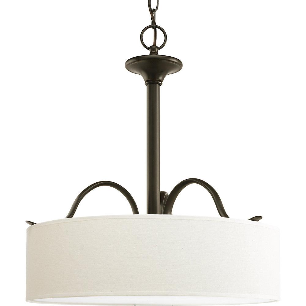 Inspire Collection 3-Light Antique Bronze Pendant Light Fixture